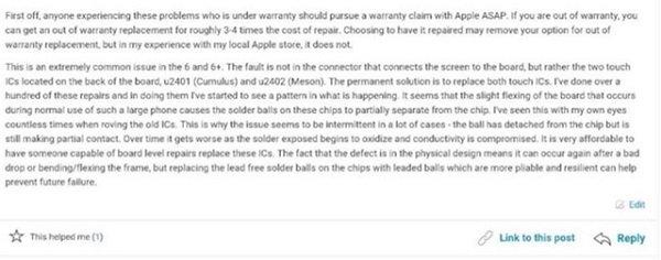 Apple cẩu thả trong việc lắp ráp linh kiện khiến hàng loạt iPhone 6/6 Plus chết cảm ứng?