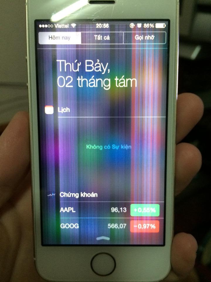 Cách khắc phục iphone 5s bị nhiễu màn hình – Bạn đã biết chưa?