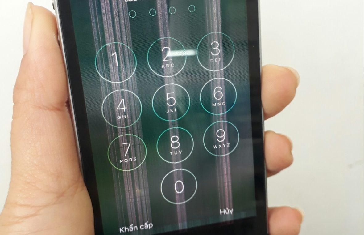 Khắc phục iphone 5 bị sọc màn hình đơn giản, hiệu quả