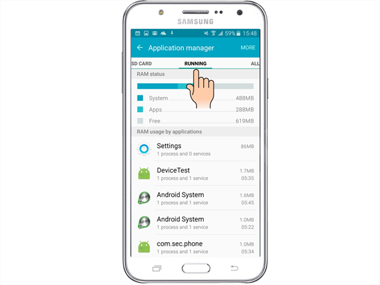 Khắc phục Samsung Galaxy J5/ J5 2016 bị nóng máy nhanh chóng
