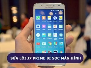 Samsung Galaxy J7 Prime bị sọc màn hình, phải làm sao ?