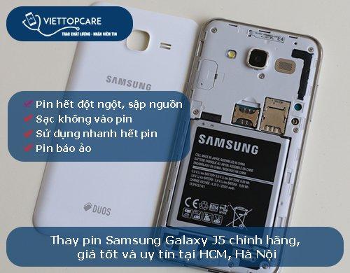 Thay pin Samsung Galaxy J5-2