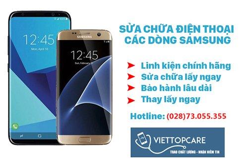 Sửa chữa điện thoại Samsung tại Viettopcare