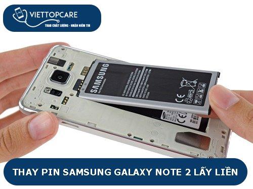 thay pin samsung note 2 chất lượng