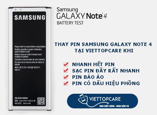 thay pin samsung note 4 chất lượng