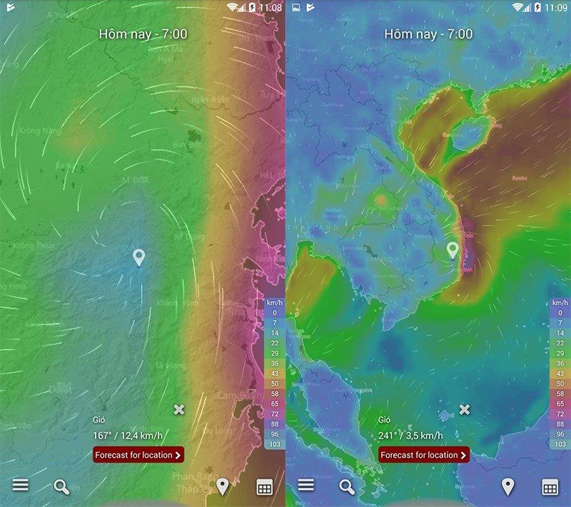 Cập nhật hướng đi của cơn bão Tembin trên điện thoại và máy tính