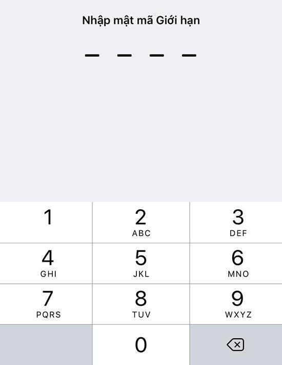 Quên mật khẩu giới hạn iPhone, phải làm sao?