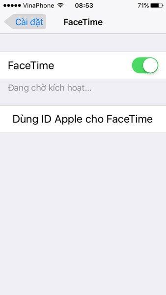 Cách khắc phục lỗi facetime đang chờ kích hoạt 1