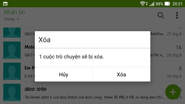 Cách xóa tin nhắn trên điện thoại Samsung Galaxy cực đơn giản 3