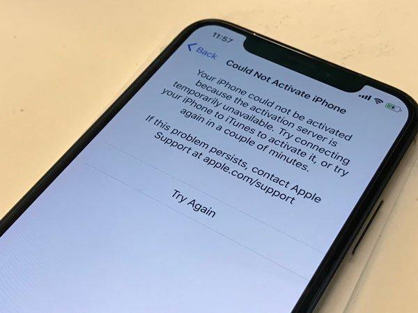 Không thể kích hoạt iPhone của bạn vì máy chủ là lỗi gì, cách khắc phục ra sao? 1