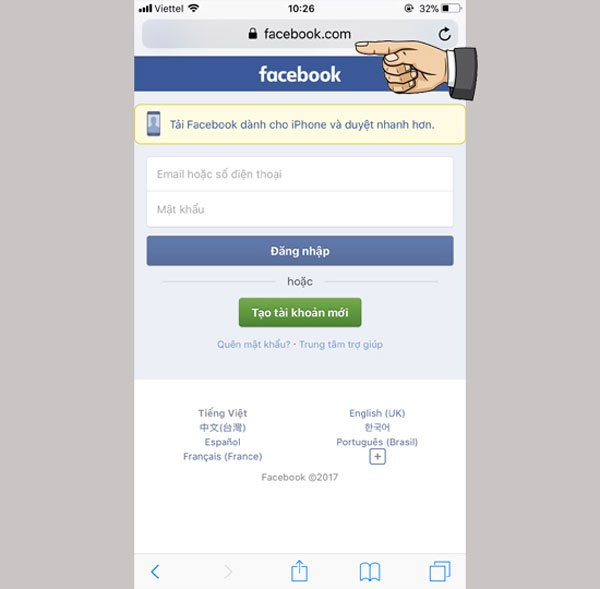 Sửa lỗi không vào được ứng dụng Facebook trên iPhone 3