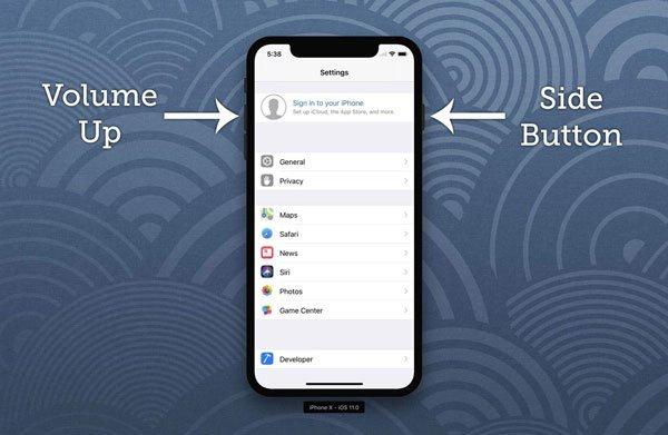 Sửa lỗi điện thoại iPhone X bị tối đen màn hình 2
