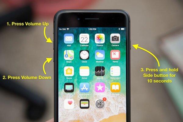 """Cứu nguy"" iPhone 8 Plus bị treo táo 1"