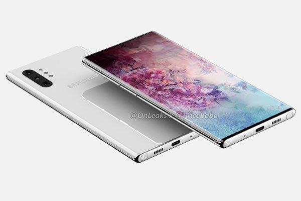 Galaxy Note 10 Pro rò rỉ màn hình hiển thị lớn kết hợp với một cụm camera 4