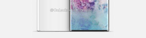 Phần cằm của Galaxy Note 10 vẫn sẽ dày hơn iPhone 2