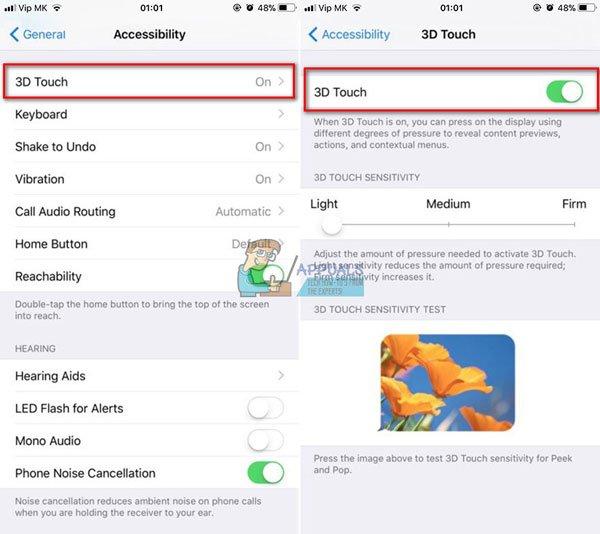 Sửa lỗi 3D Touch không hoạt động trên iPhone X 2