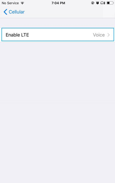 Sửa lỗi dữ liệu di động trên iPhone X 2