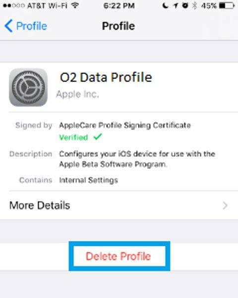 Sửa lỗi dữ liệu di động trên iPhone X 5