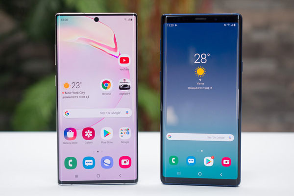 So sánh Samsung Galaxy Note 10+ vs Galaxy Note 9 2